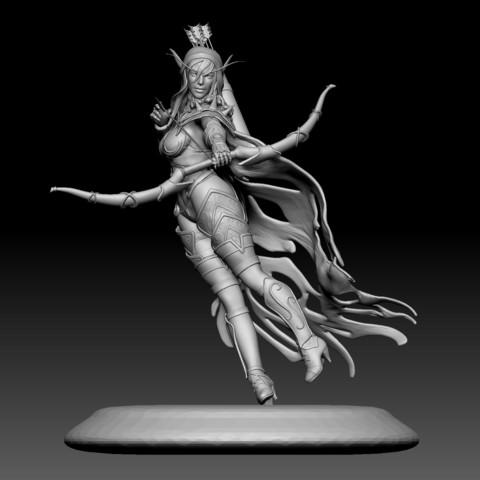Descargar archivo 3D Sylvanas 3D print, mark_nato