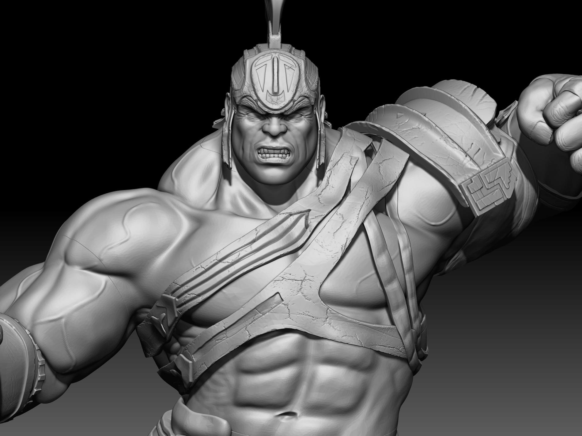 11.jpg Download STL file Hulk 3D print • Model to 3D print, mark_nato