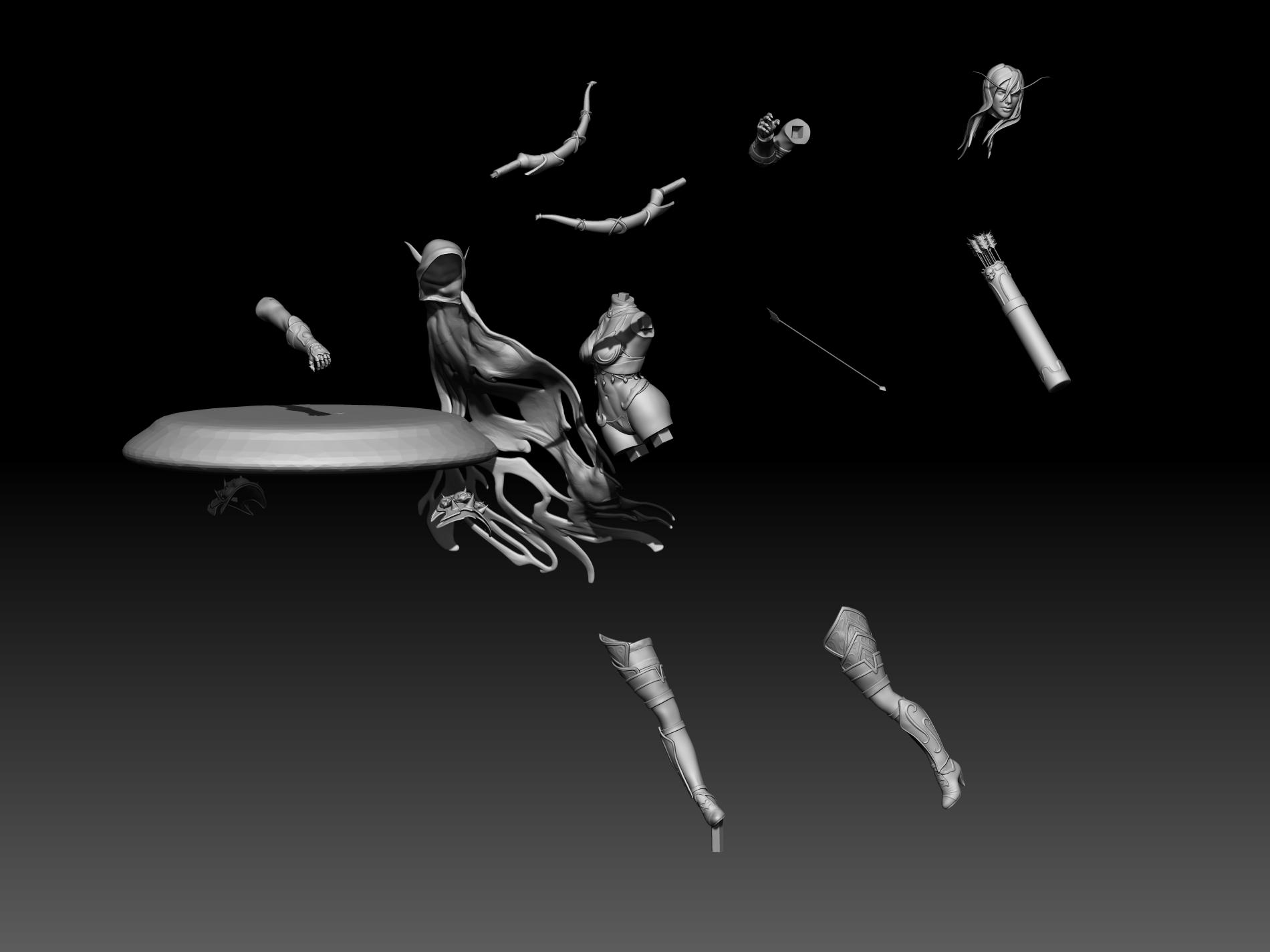 14.jpg Download STL file Sylvanas 3D print • Design to 3D print, mark_nato