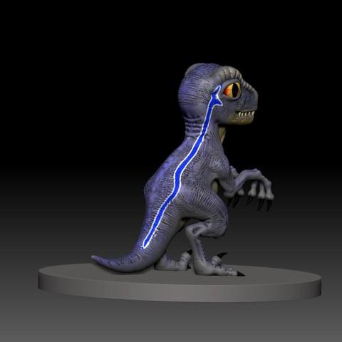 3.jpg Télécharger fichier STL gratuit dino blue 3d print • Design imprimable en 3D, mark_nato