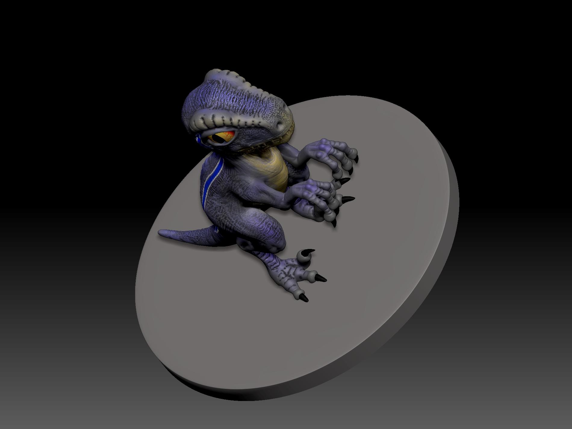 4.jpg Télécharger fichier STL gratuit dino blue 3d print • Design imprimable en 3D, mark_nato