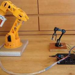 Download free 3D print files Robotic Arm with 5 degree of freedom printed in 3D, 3Dadicto