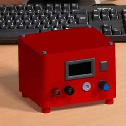 Descargar archivo 3D gratis Regulador de voltaje de 0v a 100v con voltímetro y amperímetro digital, 3Dadicto