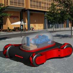 Imprimir en 3D gratis Mecanum Wheel Knight Rider, 3Dadicto