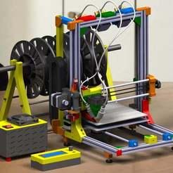 Descargar STL gratis Impresora 3D Tricolor, 3Dadicto