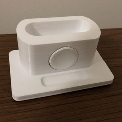 Descargar Modelos 3D para imprimir gratis Base de carga de Apple Airpods Pro y Apple Watch, meliheran