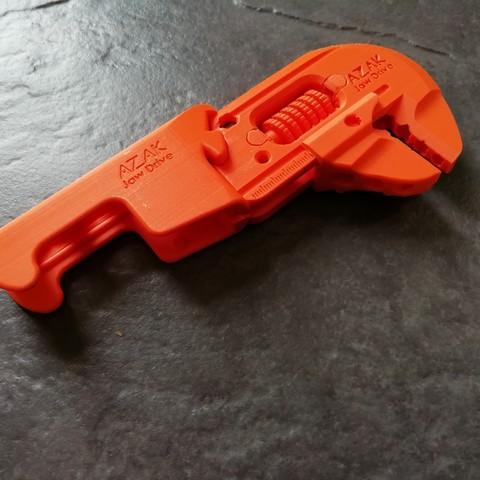 Download 3D printer designs Multi Tool - Bike adjustable wrench spanner allen key hex bit holder, AZak-TekDesign