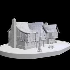 poney06.jpg Télécharger fichier OBJ Auberge du poney fringuant lotr • Objet imprimable en 3D, poilsdepinceau