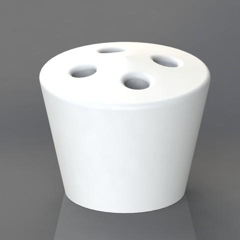 Download STL file Cigarette holder 4 holes, TheCADesigner
