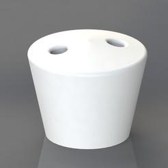 Télécharger fichier imprimante 3D Porte cigarette 2 trous, TheCADesigner