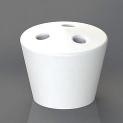 Download 3D printer files Cigarette holder 3 holes, TheCADesigner