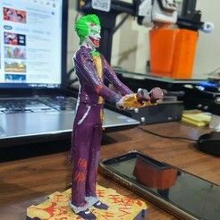 20201229_181348.jpg Download STL file Joker support for cell phone or earbuds • Model to 3D print, diegoccq