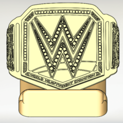 20200708_150627 - Copy.png Download STL file WWE championship Phone holder • 3D printer design, diegoccq