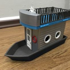 IMG_1072.JPG Download STL file Doll Boat house • 3D printing object, cliffang83
