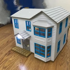 IMG_9885.JPG Download STL file Dollhouse, 380x400mm • 3D print model, cliffang83