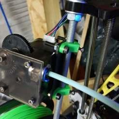 Télécharger fichier imprimante 3D gratuit Extrudeuse Titan à montage en arc sur tige (filetée) de 8mm, Richard90