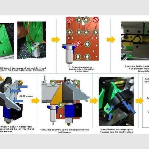 8fbee9cd441915a7ba3d778d305c83d2_display_large.jpg Download free STL file ANET A8 E3DV6 Titan Direct Drive X Carriage • 3D printer object, Richard90