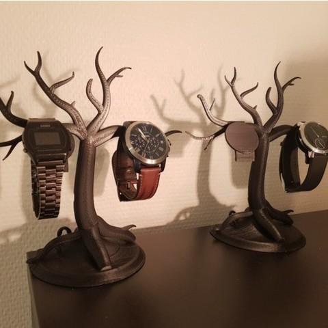 Descargar Modelos 3D para imprimir gratis Formas orgánicas: Soporte para relojes, hartvik90