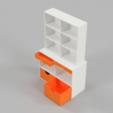 Télécharger fichier impression 3D gratuit Cabinet de la taille d'une Barbie, Wilko