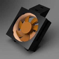 AquariumCooling_Top_Right_Fromt.png Download free STL file Stackable Aquarium Cooling - Noctua NF-A8 • 3D print object, Wilko