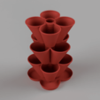 stackedTopSide_Medium.png Télécharger fichier STL gratuit Jardinière empilable (110mm) • Plan à imprimer en 3D, Wilko