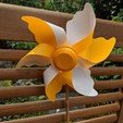 IMG_20190603_114645.jpg Download free STL file Windmill - 8 wings (Garden / Toy) • Template to 3D print, Wilko