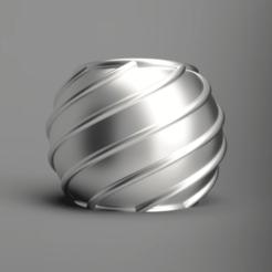 front.png Télécharger fichier STL gratuit Porte-boules de Noël 01 (mode vase) • Design à imprimer en 3D, Wilko