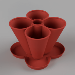 Download free STL file Stackable Planter (150mm) • 3D print design, Wilko
