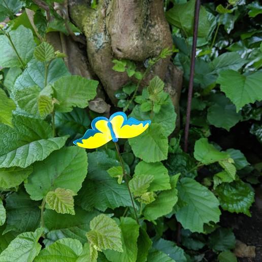 Télécharger fichier STL gratuit Butterfly - Wiggly taches colorées pour le jardin ou le pot de fleurs) • Design imprimable en 3D, Wilko