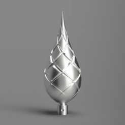 front.png Télécharger fichier STL gratuit Boule de Noël 03 (mode vase) • Objet à imprimer en 3D, Wilko