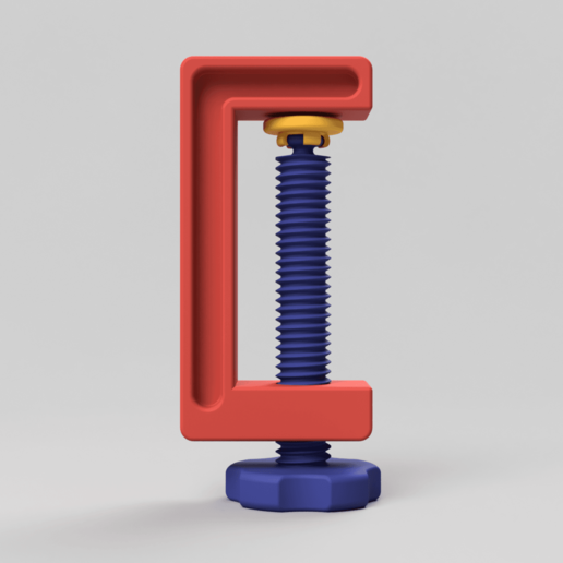 Clamp_01_2017-Aug-01_08-04-03AM-000_CustomizedView18003647438.png Download free STL file C-Clamp / G-Clamp 01 - 03 • 3D printing model, Wilko