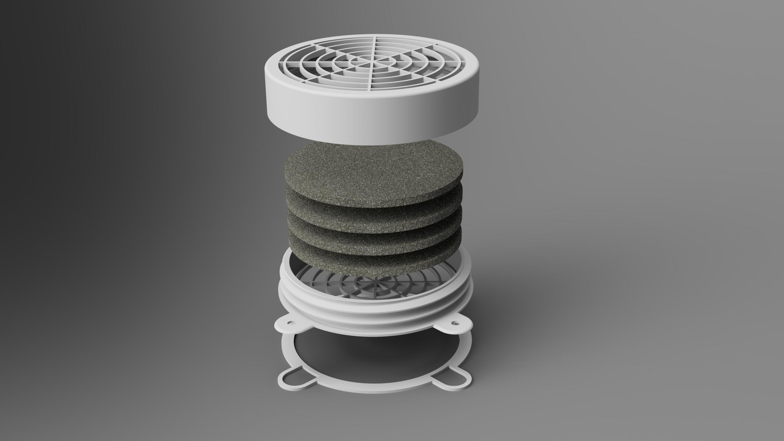 topRightExplode_low.png Télécharger fichier STL gratuit Filtre de cabine de pulvérisation Wiltec • Objet imprimable en 3D, Wilko