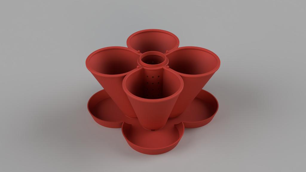 topSide_Medium.png Télécharger fichier STL gratuit Jardinière empilable (110mm) • Plan à imprimer en 3D, Wilko