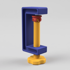 C-Clamp_03_2017-Aug-02_09-17-26PM-000_CustomizedView17120431943.png Download free STL file C-Clamp / G-Clamp 01 - 03 • 3D printing model, Wilko