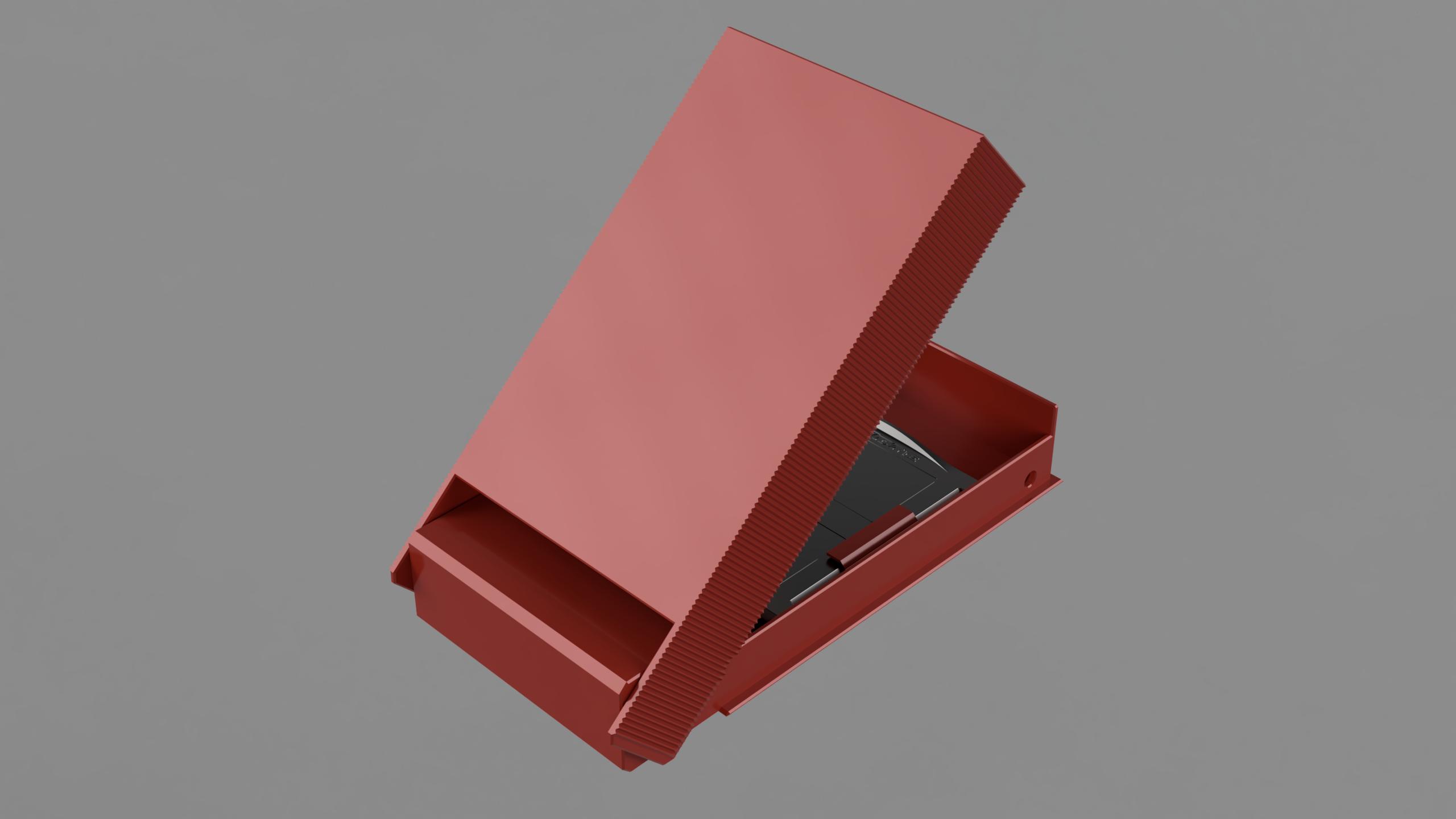halfOpen.png Télécharger fichier STL gratuit Mallette Gameboy Advance (GBA) pour 4 jeux • Objet à imprimer en 3D, Wilko