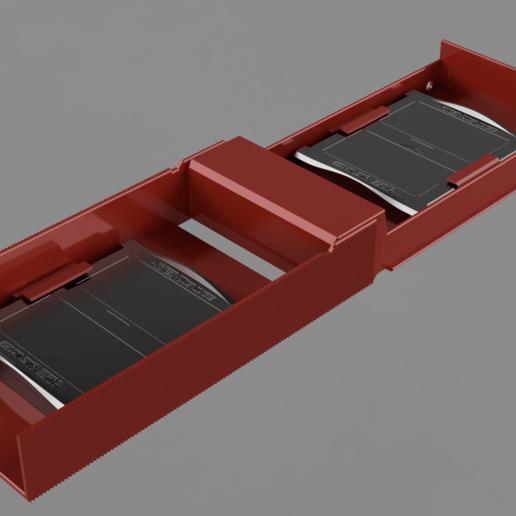 open.png Télécharger fichier STL gratuit Mallette Gameboy Advance (GBA) pour 4 jeux • Objet à imprimer en 3D, Wilko