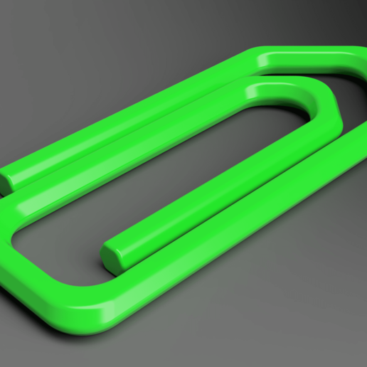 Download free 3D printer files Paperclip, Wilko