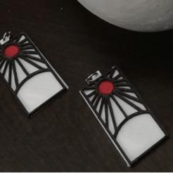 Télécharger fichier impression 3D Boucles d'oreilles Tanjiro Tueuse de Démons, JamesWaffles