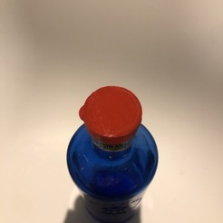 IMG-5812.jpg Download free STL file Goat bottle cap solan blue glass • 3D printer object, danielfdz0192