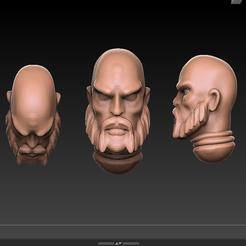 space_viking_head.PNG Télécharger fichier STL gratuit La calvitie de guerre : Tête de Viking, Sci-fi, Fantasy • Objet à imprimer en 3D, showland