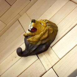Download 3D printer designs Lion Hanger, Aslan3d