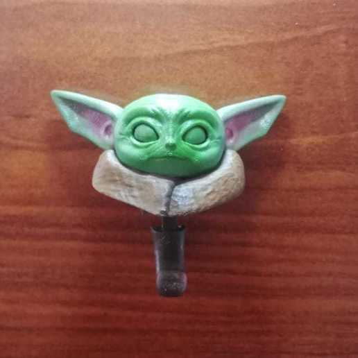 2.jpeg Download STL file Baby Yoda key holder • 3D printing model, Aslan3d