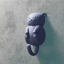 29catbebe.jpg Download STL file baby cat hanger • Object to 3D print, Aslan3d