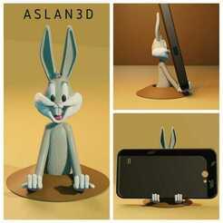 IMG-20210108-WA0008.jpg Télécharger fichier STL Bugs Bunny support de téléphone • Design pour imprimante 3D, Aslan3d