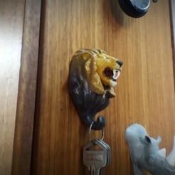 leone 1.jpg Download STL file Lion Hanger • 3D printer template, Aslan3d