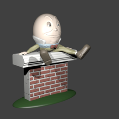 Download STL file Humpty Dumpty - Alice, Aslan3d