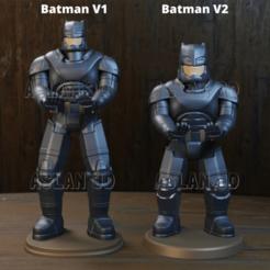 1.png Télécharger fichier STL Titulaire du contrôleur Batman PS4 • Plan à imprimer en 3D, Aslan3d