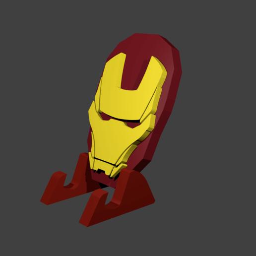 render2png.png Télécharger fichier STL gratuit Détenteur d'un téléphone portable Iron Man • Design pour impression 3D, Aslan3d