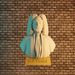 Download STL file Georg Friedrich Händel • 3D printer design, Aslan3d