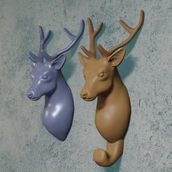 Download STL file deer hanger • 3D printing object, Aslan3d